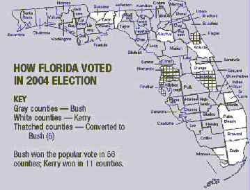 2004 Florida Vote Map.jpg (13696 bytes)